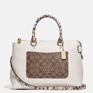 Coach Emma Satchel in Signature Canvas Colorblock